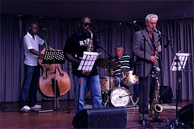 Chris Biscoe Quartet at Victoria Embankment Summer 2008